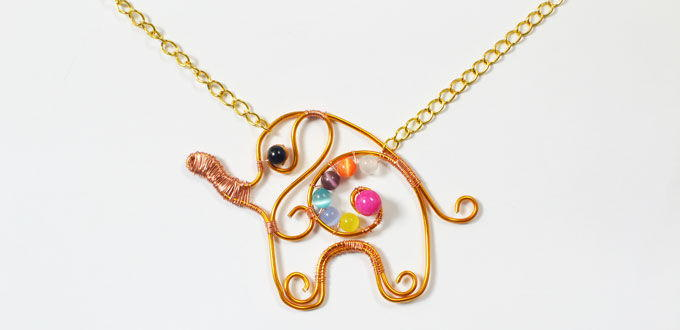 Adorable wire wrapped elephant diy pendant allfreejewelrymaking aloadofball Image collections
