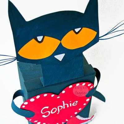 pete the cat valentine box - Cat Valentine Box