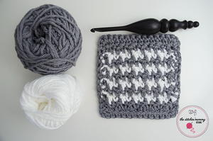 Houndstooth Crochet Dishcloth Pattern