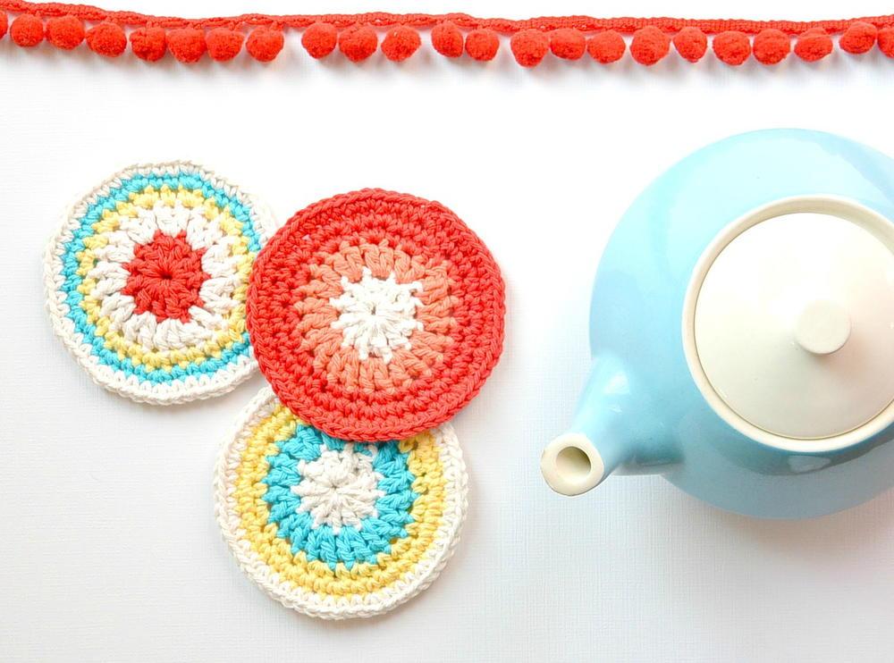 Easy Modern Vintage Crochet Coasters Allfreecrochet