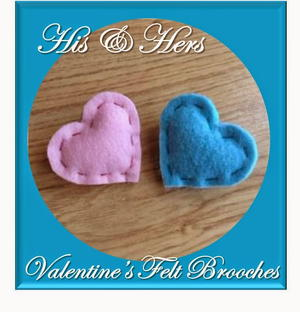 His & Hers Heart DIY Brooches