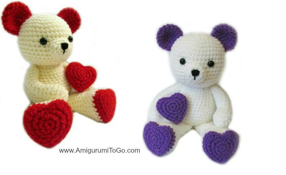Valentine Crochet Teddy Bear Allfreecrochet