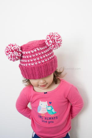Lolly-Poms Sweetheart Beanie