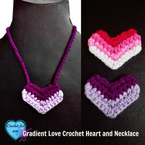 Ombre Love Crochet Heart
