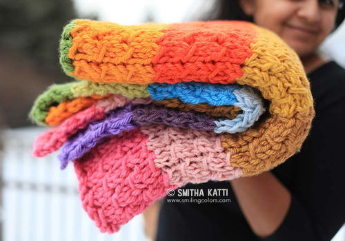 Rainbow Knit Blanket Pattern