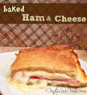 3-Ingredient Ham and Cheese Crescent Bake