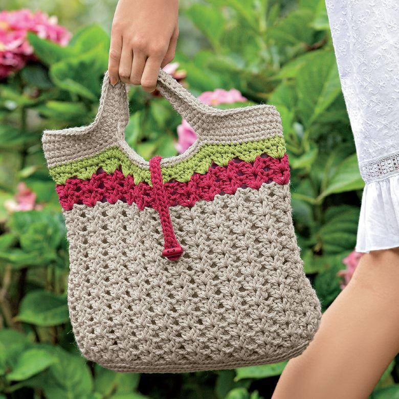 Crochet Along: Sweet Summer Crochet Handbag AllFreeCrochet.com