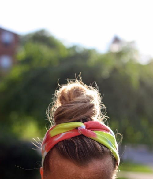 Tie-Dyed T-Shirt DIY Headbands