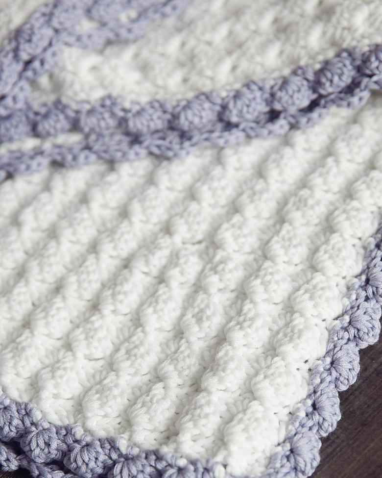 Vintage Chic Crochet Baby Blanket