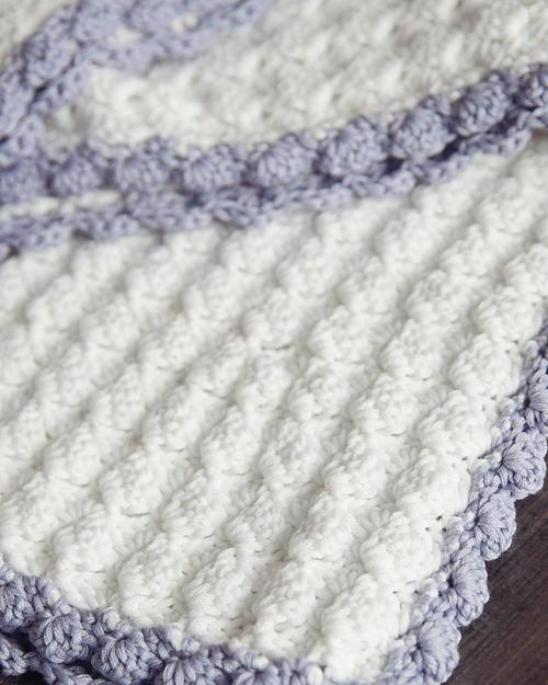 Vintage Chic Crochet Baby Blanket | AllFreeCrochetAfghanPatterns.com