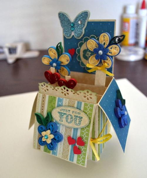 Burst and Bloom Quilled Pop-Up Card