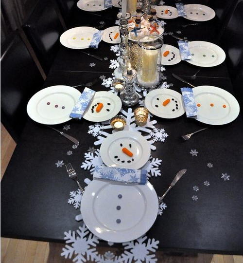 Creative Snowman Table Setting Ideas | AllFreeChristmasCrafts.com