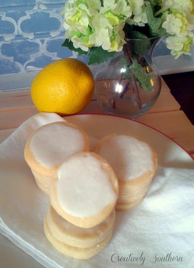 Iced Lemon Cookies