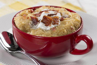 Bacon Peanut Butter Mug Cake