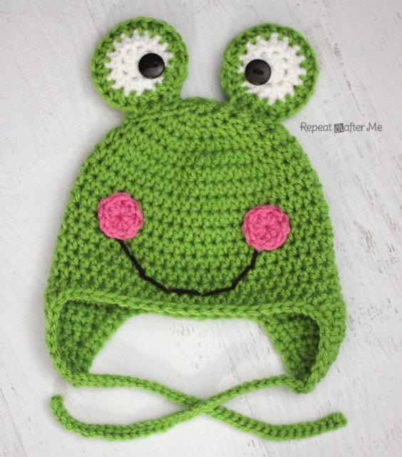 frog crochet hat pattern. Black Bedroom Furniture Sets. Home Design Ideas