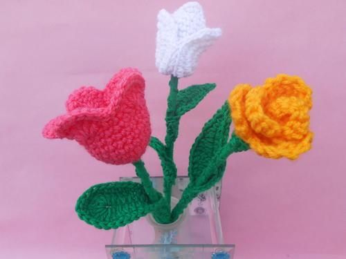 Crochet Flower Bouquet | AllFreeCrochet.com