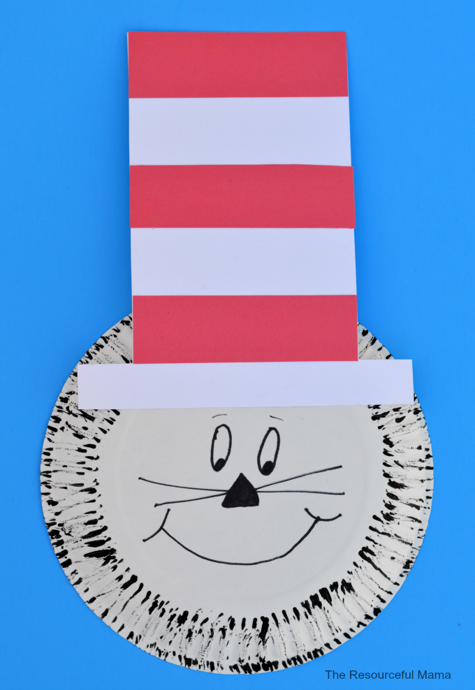sc 1 st  AllFreeKidsCrafts & Paper Plate Dr. Seuss Cat in the Hat Craft | AllFreeKidsCrafts.com