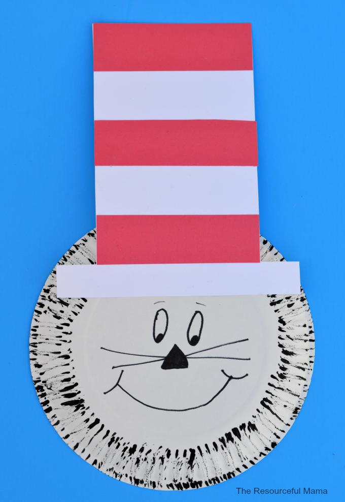 sc 1 st  AllFreeKidsCrafts & Paper Plate Dr. Seuss Cat in the Hat Craft | AllFreeKidsCrafts.com