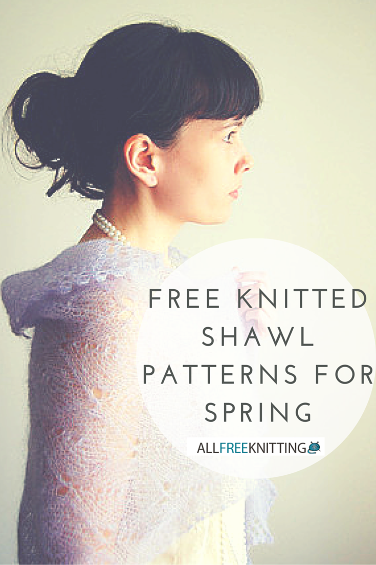 24 free knitted shawl patterns for spring allfreeknitting bankloansurffo Gallery