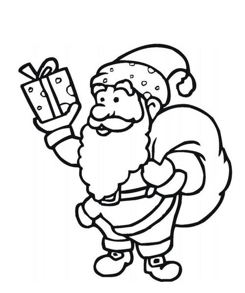 santa claus free coloring pages
