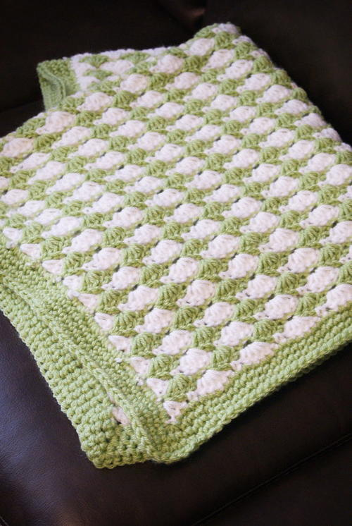 Shell Stitch Blanket Allfreecrochet