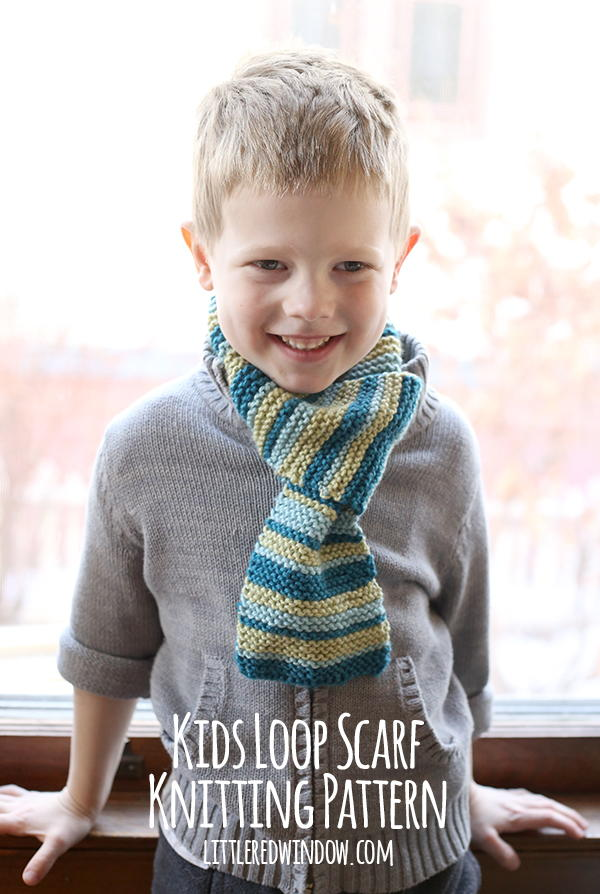 Kids Loop Scarf Knitting Pattern | AllFreeKnitting.com