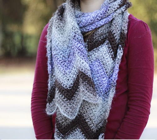 Crochet Scarf With Chevron Pattern Allfreecrochet