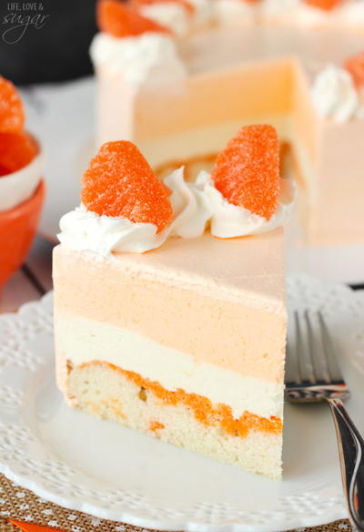 Frozen Orange Creamsicle Cake