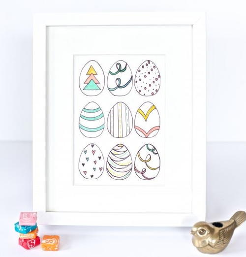 Easy Easter Egg DIY Art