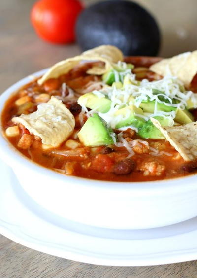 Slow Cooker Skinny Taco Chili