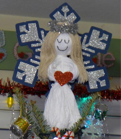 String Doll Angel Tree Topper