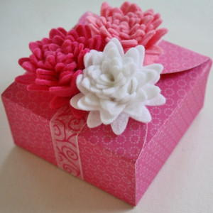 Pretty in Pink Flower Topped Gift Box