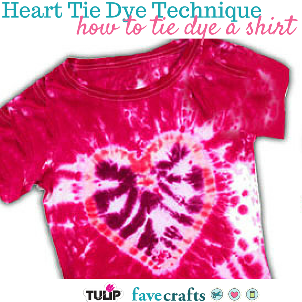 Heart Tie Dye Technique From Tulip Favecrafts
