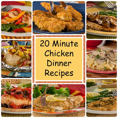 20 minute chicken dinner recipes everydaydiabeticrecipes if youre looking for quick dinner recipes look no further than these chicken dinner recipes from all american crispy golden chicken to mexican chicken forumfinder Gallery