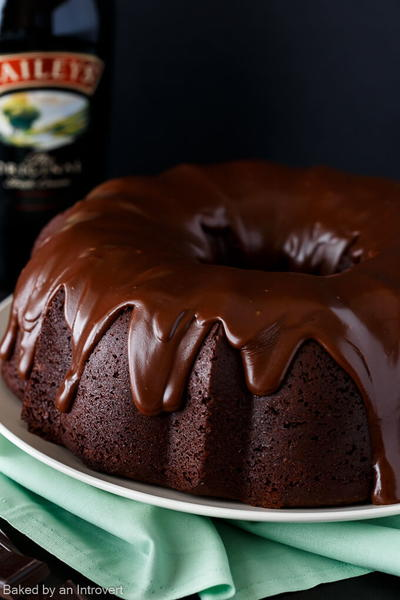 Irish Chocolate Coffee Bundt Cake