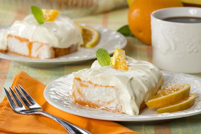 Orange Dream Angel Cake
