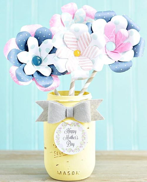 Paper Flower Mothers Day Gift