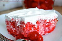 Shirley Temple Poke Cake