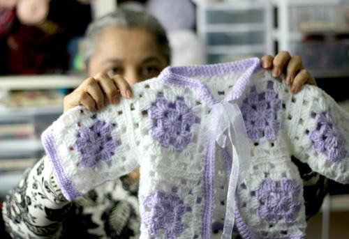 Crochet Granny Square Baby Sweater Allfreecrochet