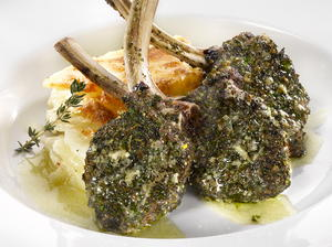 Lamb Steaks with Herbs and Mustard