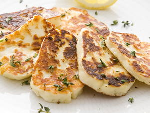 Warm Halloumi with Herbs