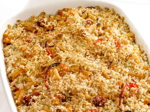 Macaroni Bake with Ham and Peppers