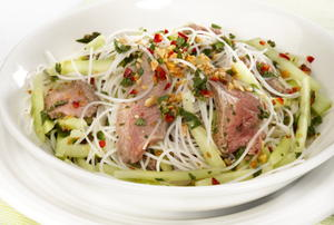 Vietnamese Beef, Green Papaya, and Noodle Salad
