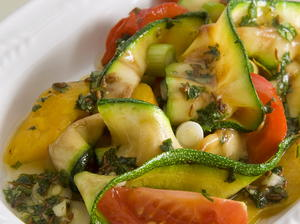 Grilled Zucchini and Pepper Salad with Cilantro and Cumin