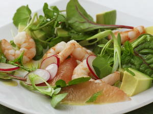 Shrimp, Grapefruit, and Avocado Salad