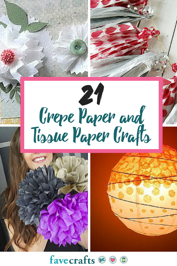 21 crepe paper and tissue paper crafts favecrafts jeuxipadfo Gallery