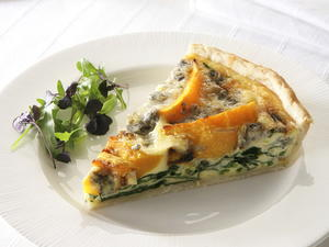 Squash and Gorgonzola Tart