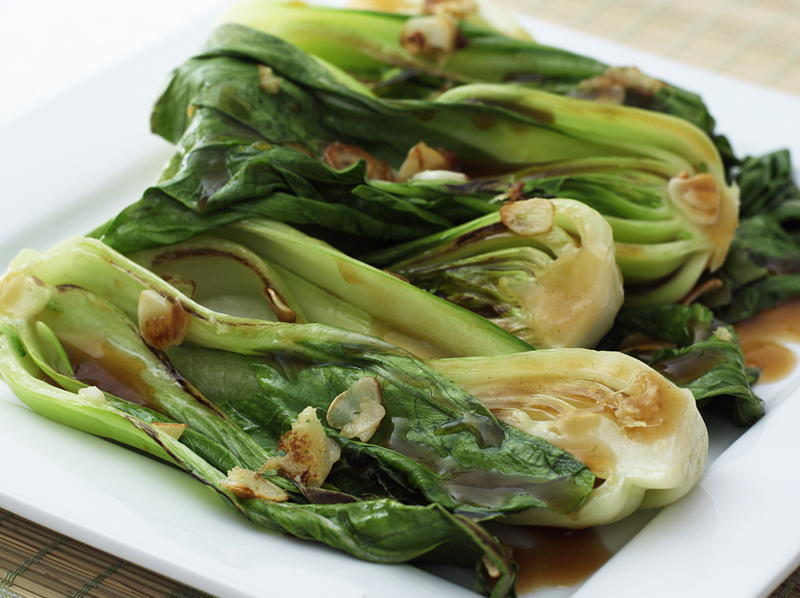 Bok Choy with Oyster Sauce Cookstrcom