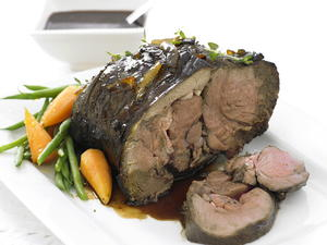 Roast Venison with Marmalade Gravy