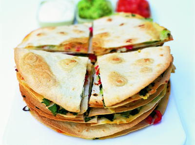 Easy Mexican Food Recipes Quesadillas with Salsa and Guacamole